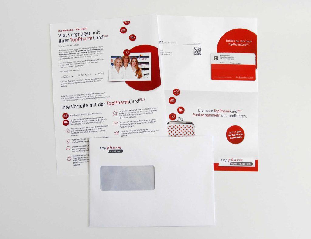 Toppharm personalisiertes Mailing